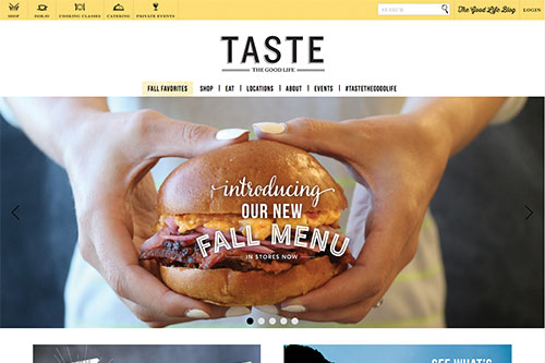 Taste Unlimited Site Example